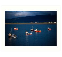 irish harbour Art Print