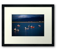 irish harbour Framed Print