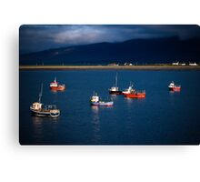 irish harbour Canvas Print