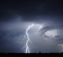 lightning strikes the earth by jdeguara