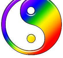 Rainbow Yin Yang by Xennifer