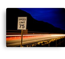 The Fast Lane Canvas Print