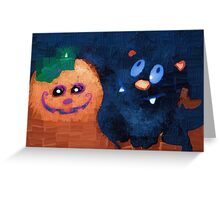 Spooky smiles Greeting Card