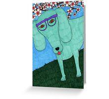hipster dachshund Greeting Card