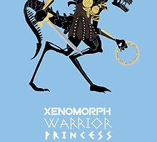Xenomorph Warrior Princess by ladypuns