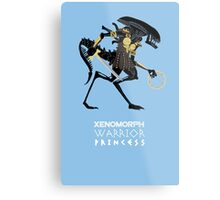 Xenomorph Warrior Princess Metal Print