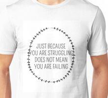 Inspirational Typography Quote Art Wreath Laurel Breathe Unisex T-Shirt