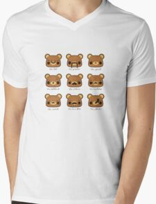 Bear with many moustaches T-Shirt