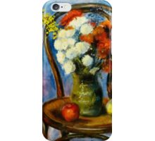 Flowers on Chair iPhone Case/Skin