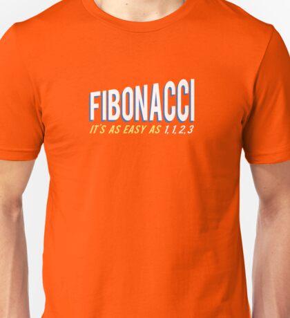 Fibonacci It's as Easy as 1, 1, 2, 3 Unisex T-Shirt