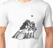 Peach and Mario Valentines Unisex T-Shirt