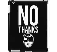 No Thanks iPad Case/Skin
