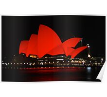 Red Sails (Sydney Opera house) Poster