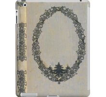 Antique book cover with edelweiss iPad Case/Skin