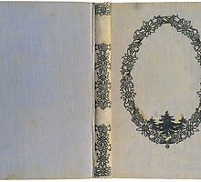 Antique book cover with edelweiss by Colorello