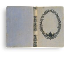 Antique book cover with edelweiss Canvas Print