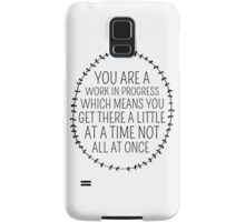 Inspirational Typography Quote Art Wreath Laurel Little At A Time Samsung Galaxy Case/Skin