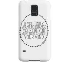 Inspirational Typography Quote Art Wreath Laurel Change Samsung Galaxy Case/Skin