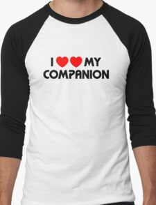 I Two-Heart My Companion Design (White) Men's Baseball ¾ T-Shirt