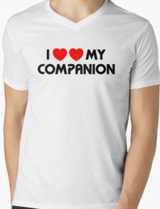I Two-Heart My Companion Design (White) Mens V-Neck T-Shirt