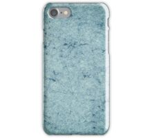 Old blue marbled paper iPhone Case/Skin