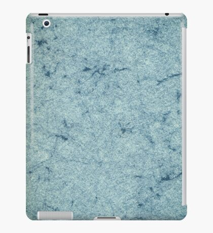 Old blue marbled paper iPad Case/Skin