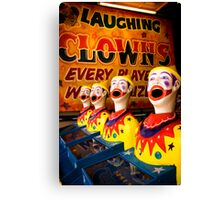 Laughing in Adversity. Canvas Print