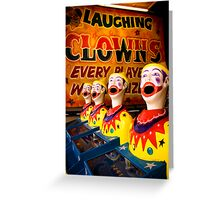 Laughing in Adversity. Greeting Card