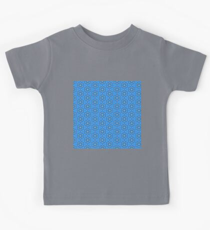 Triangle Blue Lace Quartz Quilt Abstract Modern Pattern Kids Tee