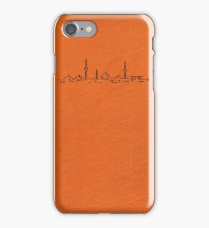 Vintage book cover with illustration of a mosque iPhone Case/Skin
