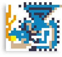 Pixel Azure Rathalos Canvas Print