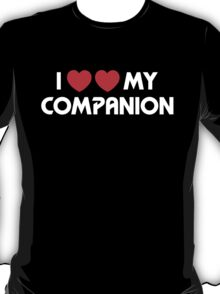 I Two-Heart My Companion Design (Black) T-Shirt