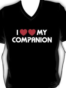 I Two-Heart My Companion Design (Black) T-Shirt
