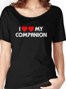 I Two-Heart My Companion Design (Black) Women's Relaxed Fit T-Shirt