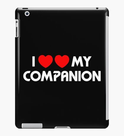 I Two-Heart My Companion Design (Black) iPad Case/Skin