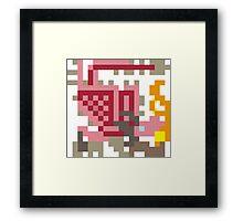 Pixel Pink Rathian Framed Print