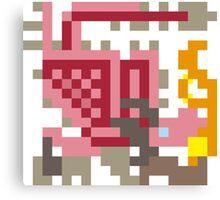 Pixel Pink Rathian Canvas Print