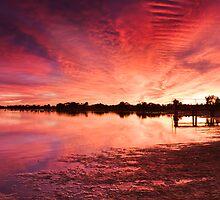 Lake Albert Sunrise by KathyT