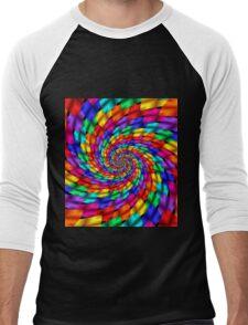 Psychedelic Ribbons Men's Baseball ¾ T-Shirt