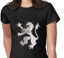 Rampant Lion Silver Womens Fitted T-Shirt