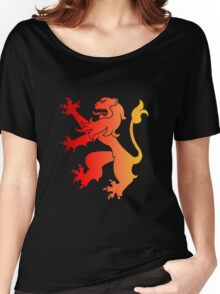 Rampant Lion Red-Orange Women's Relaxed Fit T-Shirt