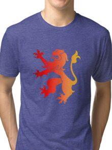 Rampant Lion Red-Orange Tri-blend T-Shirt