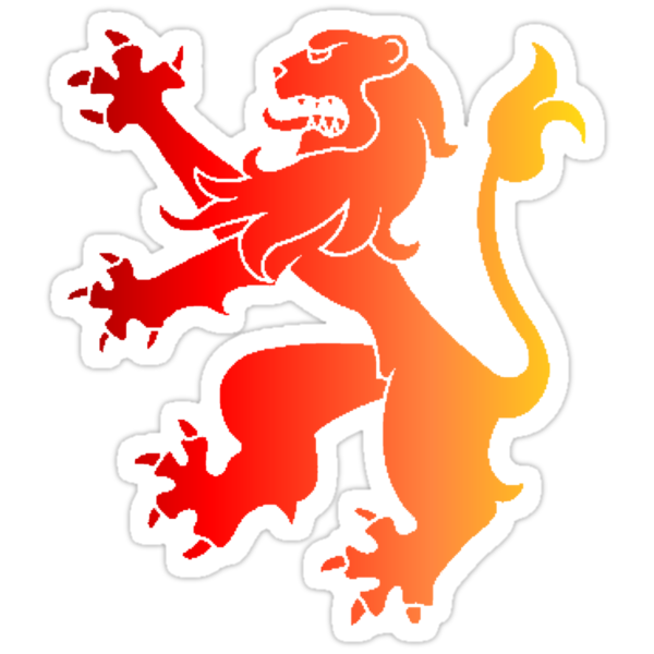 Rampant Lion Red-Orange by Rowan  Lewgalon