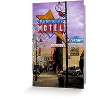 santa fe motel 2 Greeting Card