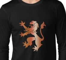 Rampant Lion Copper Long Sleeve T-Shirt