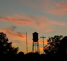 Water Tank at Dusk by Chipper