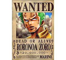 Wanted Zoro - One Piece Photographic Print