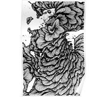 Black swirl art Vector Image Poster