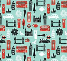 London Block Print by Andrea Lauren by Andrea Lauren