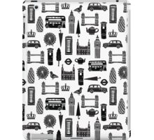 London Block Print - Black and White by Andrea Lauren iPad Case/Skin